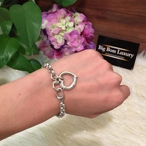 Authentic Preowned Gucci silver bamboo bracelet